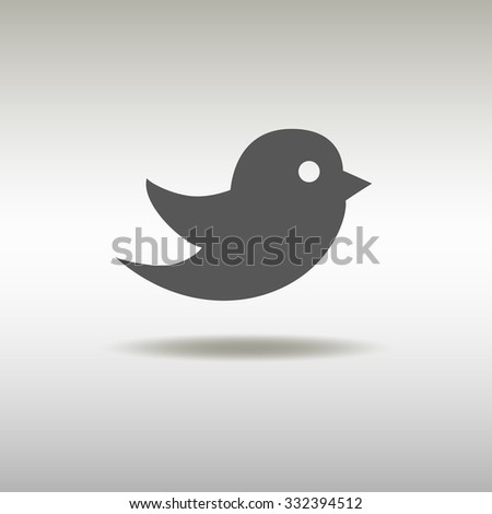 Bird icon. Social media sign.