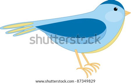 Bird illustration, isolated - stock vector