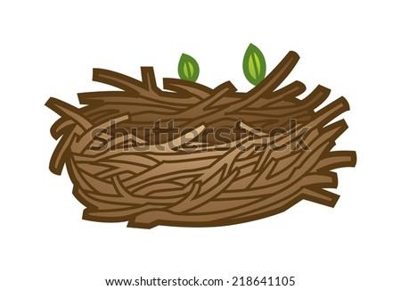 Birds Nest Stock Vector 218641105 - Shutterstock