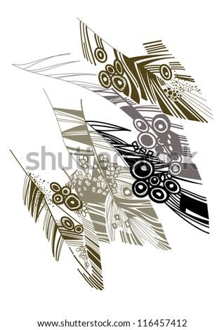 bird's wing - stock vector