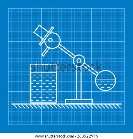 Bird toy blueprint illustration - stock vector