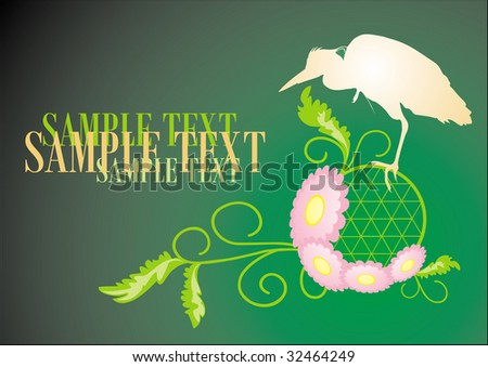 bird. vector - stock vector