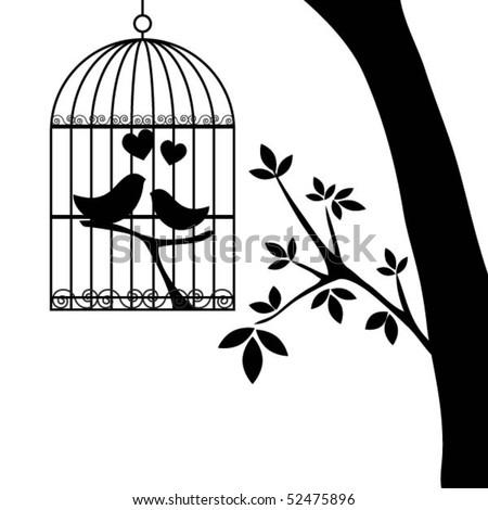 birdcage.vector - stock vector