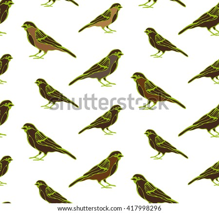 Birds are drawn from a variety of items! This is an illustration for your project - stock vector