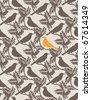 Birds. Seamless vector background. - stock vector