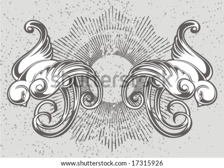 birds tattoo - stock vector