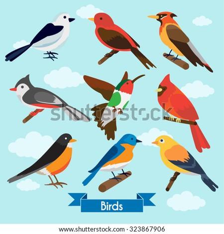 Birds Vector Design Illustration - stock vector