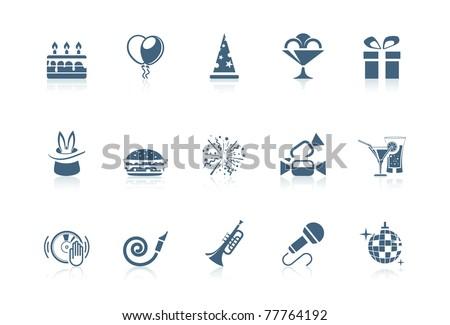 Birthday and anniversary icons - stock vector