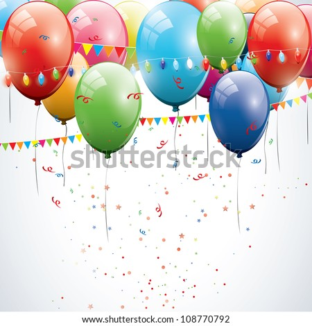 Birthday background - stock vector