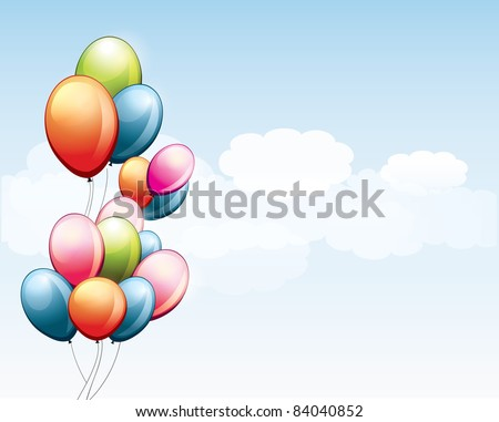 Birthday balloons - stock vector