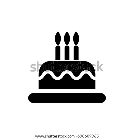 Birthday Cake Icon Vector Happy Birthday Stock Vector HD Royalty