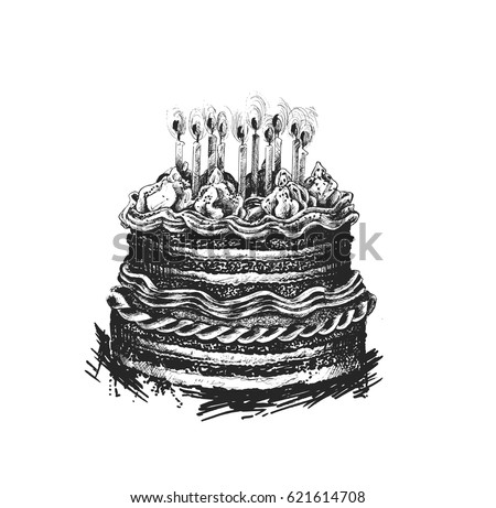Birthday cake icon vector illustration happy stock vector birthday cake icon vector illustration happy birthday cake for birthday celebration with candles sciox Image collections
