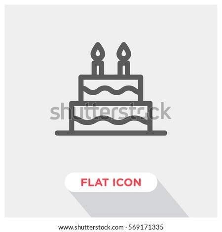 Birthday Cake Vector Icon Stock Vector 569171335 Shutterstock