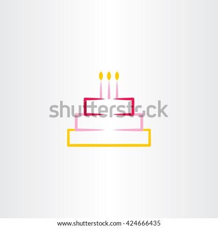 Birthday Cake Vector Symbol Icon Design Stock Vector 424666435