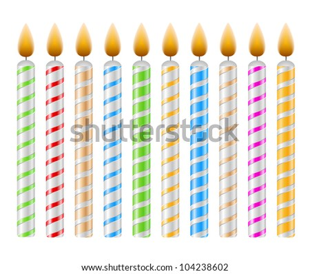 Birthday Candles, vector eps10 illustration