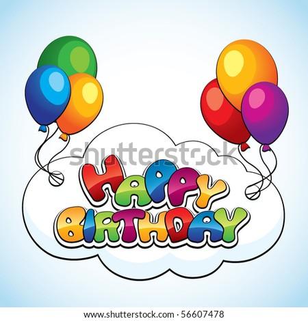 Birthday card - stock vector