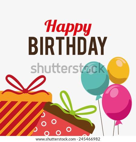 Birthday card design, vector illustration. - stock vector