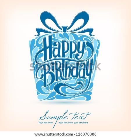Birthday Card Vector Vector 126370388 Shutterstock – Blue Birthday Cards