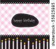 Birthday card with candles and place for text - stock vector