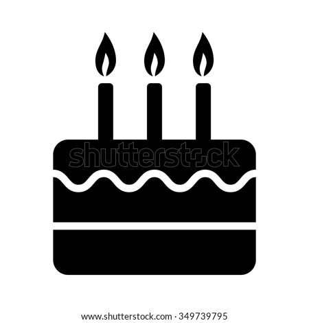 Birthday Celebration Cake Candles Flat Icon Stock Vector ...