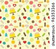 Birthday celebration themed seamless pattern  - stock vector