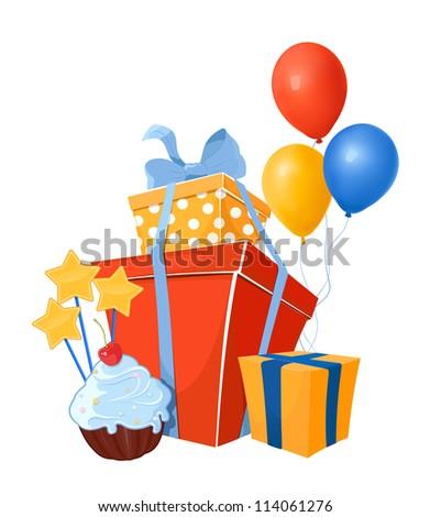 Birthday design elements - stock vector