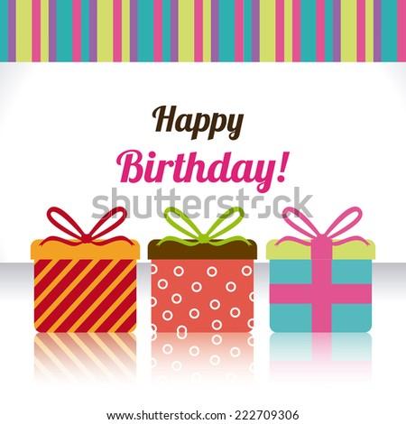 Birthday design over white background, vector illustration - stock vector