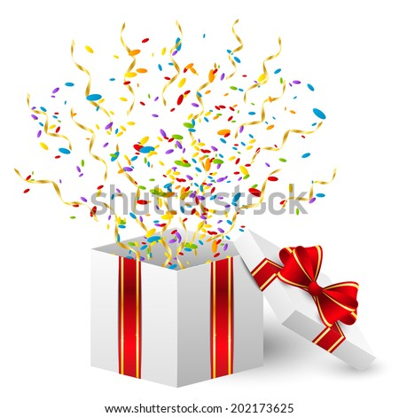 Birthday gift box color confetti stock vector hd royalty free birthday gift box with color confetti negle Gallery
