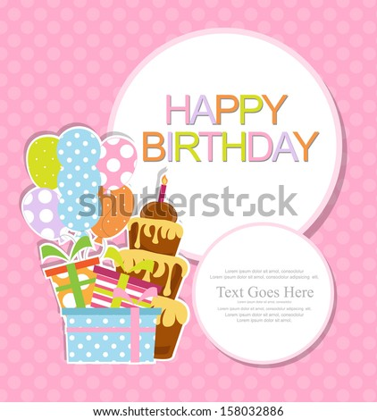 birthday invitation - stock vector
