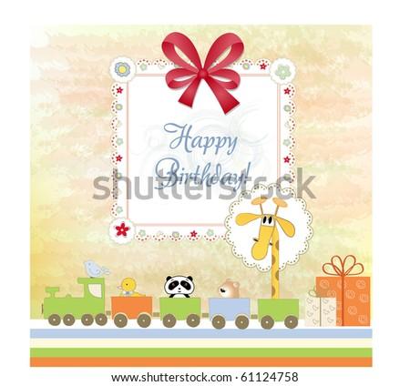 birthday invitation - stock vector