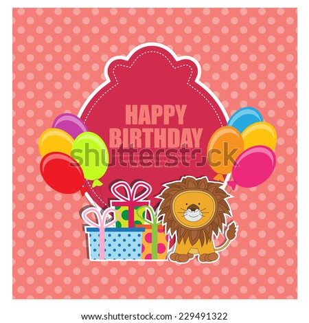 Birthday invitation vector stock vector 229491322 shutterstock birthday invitation vector stopboris Image collections