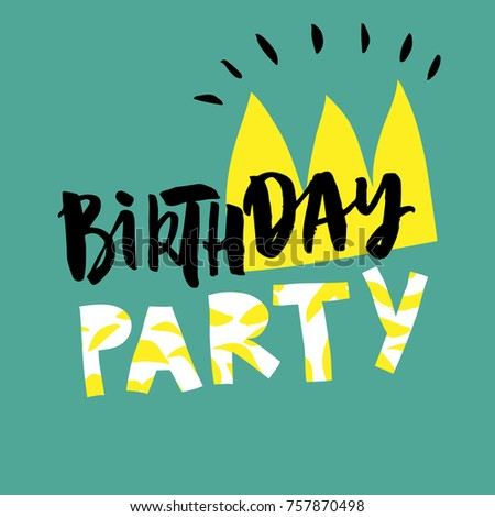Birthday Party Card Design Poster Card Stock Vector 757870498