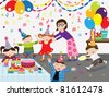 Birthday Party Celebration - stock vector