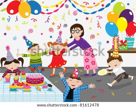 Birthday Party Celebration - stock vector