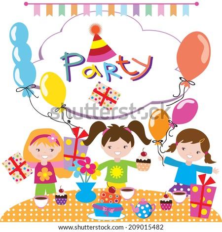 Birthday Party Vector Illustration Stock Vector 209015482 Shutterstock
