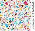 Birthday pattern - stock photo