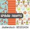 Birthday Patterns - stock vector