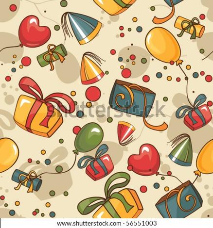 birthday seamless wallpaper - stock vector