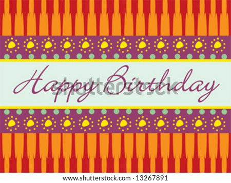Birthday vector abstract greeting card