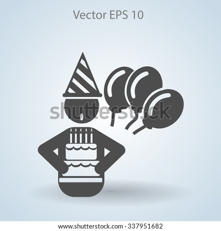 Birthday vector icon - stock vector