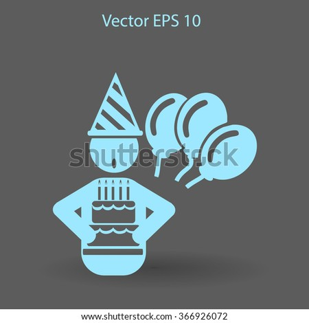 Birthday vector icon - stock vector