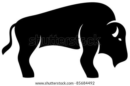 Bison - stock vector