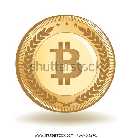 Bitcoin Crypto Currency Gold Coin