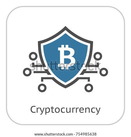 Bitcoin Crypto Currency Icon Modern Computer Network Technology Sign Digital Graphic Symbol