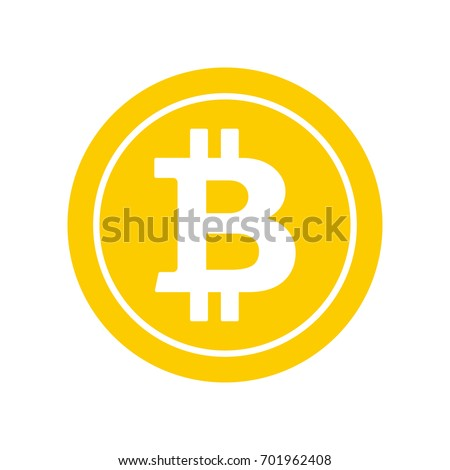 Bitcoin Flat Icon Crypto Currency Bit Coin Cryptocurrency Emblem Web And Internet Money