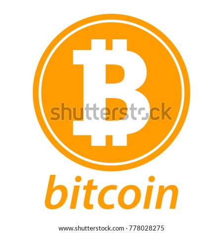 Bitcoin Icon Coin Logo Crypto Currency Symbol Silhouette E Commerce Concept Vector