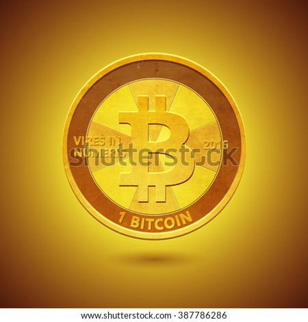 Bitcoin is online payment system and an innovative payment network. It's a new kind of money with high protection.  - stock vector