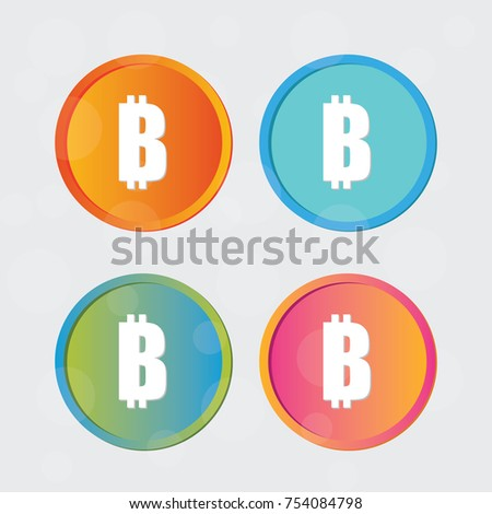 Bitcoin Logo Cryptography Currency Sign Icon Symbol Modern Design Vector Crypto