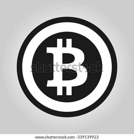 Bitcoin symbol in flat design. Vector illustration. - stock vector