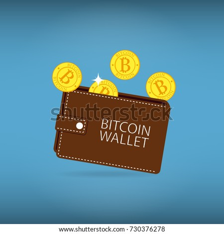 Bitcoin wallet coins cryptocurrency account sign stock vector bitcoin wallet with coins cryptocurrency account sign vector illustration ccuart Choice Image